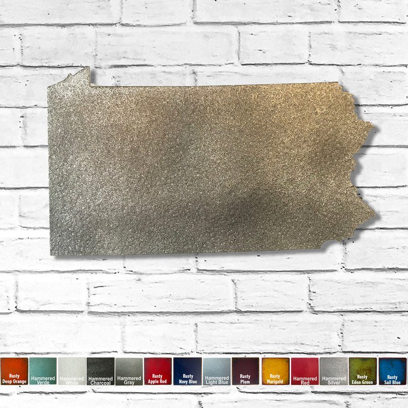Pennsylvania - Metal Wall Art Home Decor - Made in the USA - Choose 10