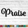 "Custom Order - Praise - Spumante Font - Metal Wall Art Home Decor - Measures 53"" wide - Hangs in 2 pieces"