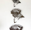"Pug - Metal Wall Art Home Decor - Handmade in the USA - Choose 11"", 17"" or 23"" Tall - Choose your Patina Color! FREE SHIPPING"