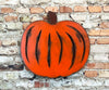 pumpkin shaped metal wall art home decor cutout handmade by Functional Sculpture llc