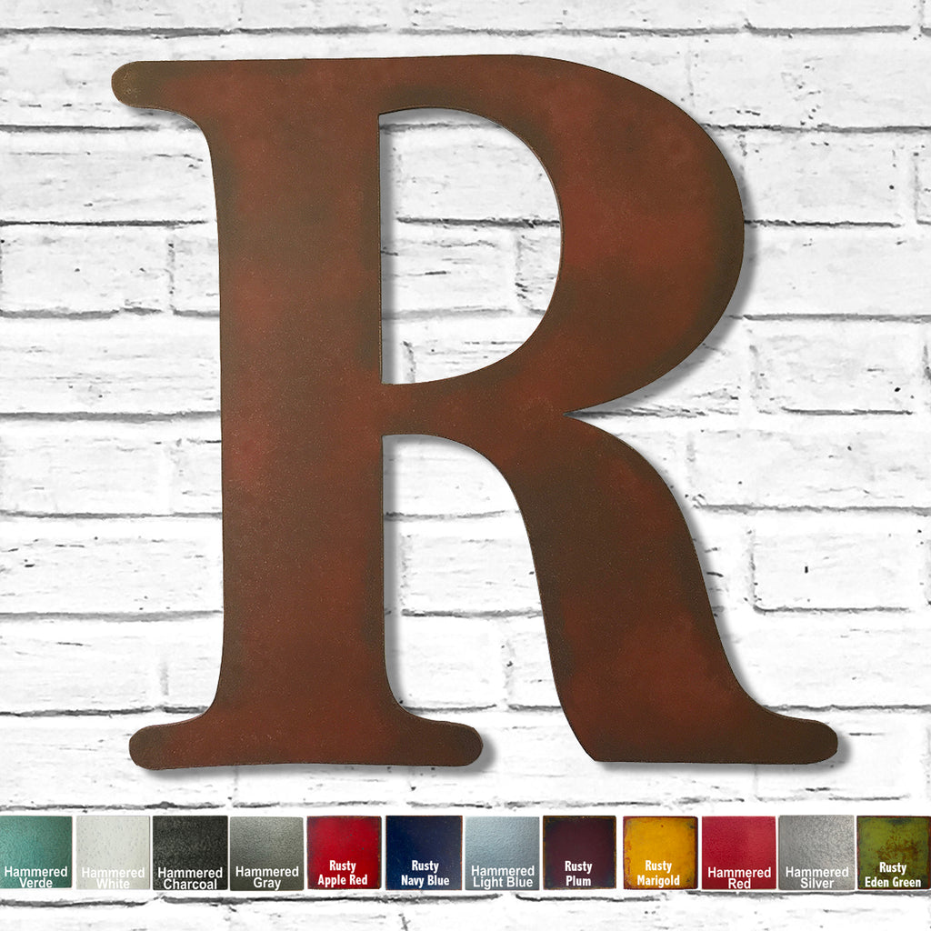 bell mt font letter r metal wall art home decor cutout handmade by Functional Sculpture llc