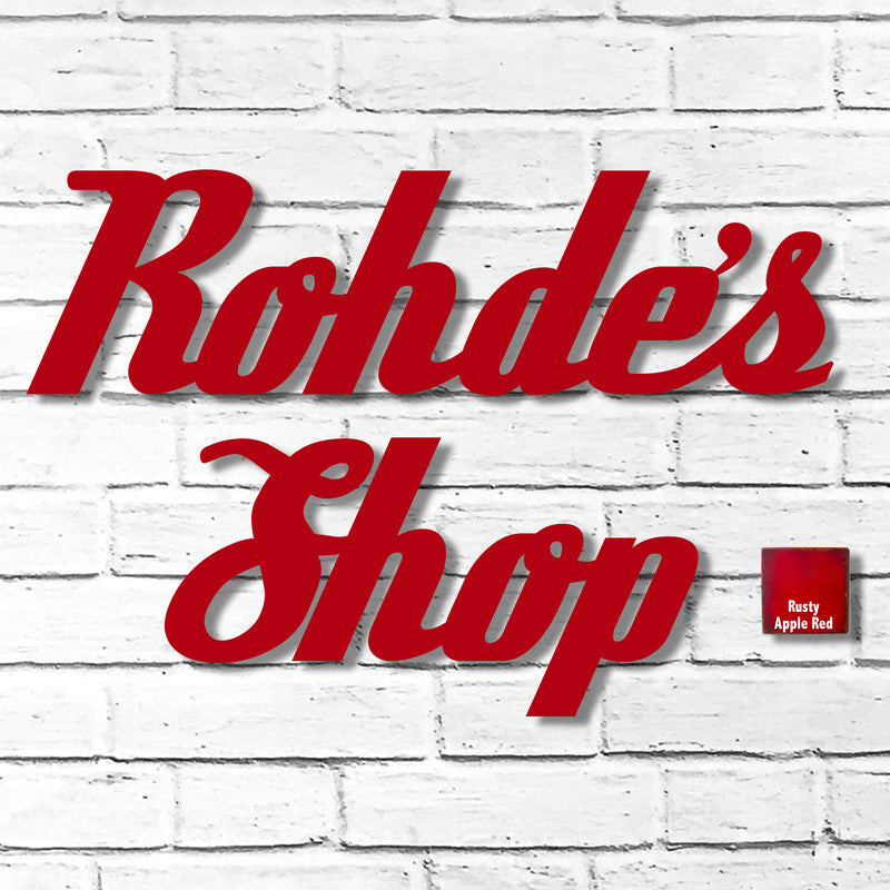 Custom Order - Rohde's Shop - Finished in Rusty Apple Red - Metal Wall Art Home Decor