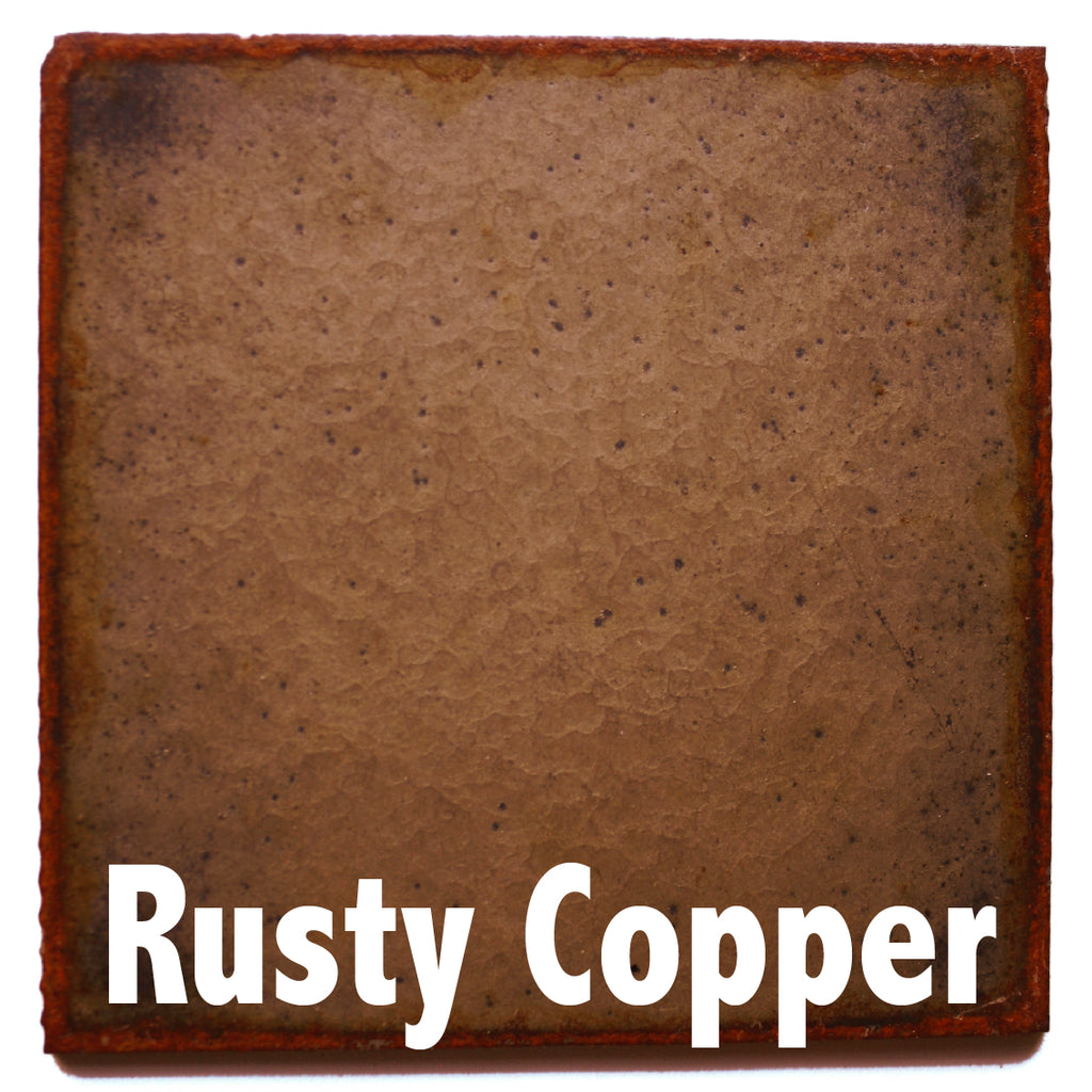 "Rusty Copper Sample piece - 3"" x 3"" Metal Art Color Swatch - Handmade in the USA - FREE SHIPPING"