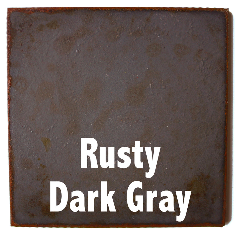 "Rusty Dark Gray Sample piece - 3"" x 3"" Metal Art Color Swatch - Handmade in the USA - FREE SHIPPING"