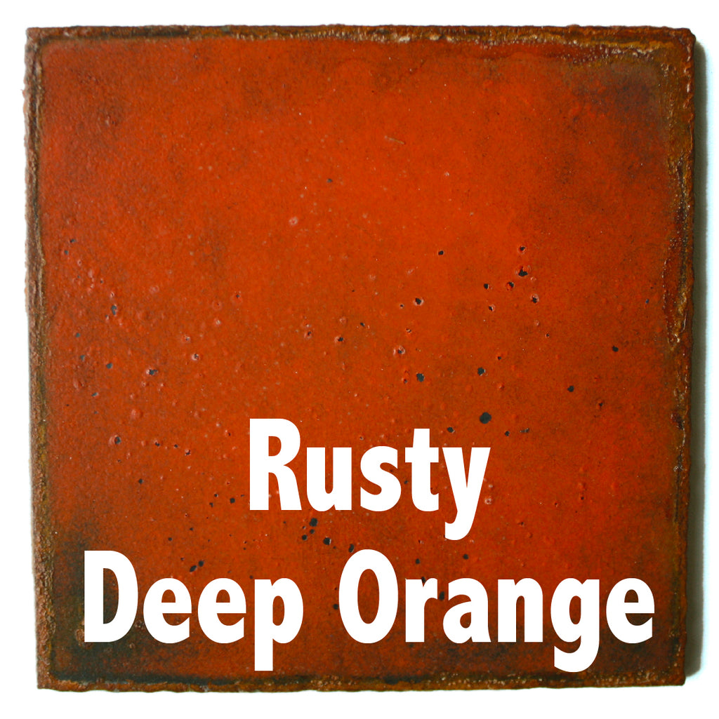"Rusty Deep Orange Sample piece - 3"" x 3"" Metal Art Color Swatch - Handmade in the USA - FREE SHIPPING"