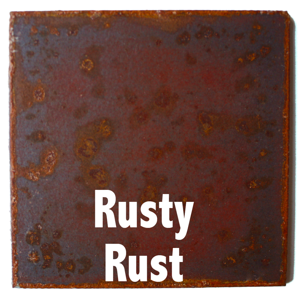"Rusty Rust Sample piece - 3"" x 3"" Metal Art Color Swatch - Handmade in the USA - FREE SHIPPING"