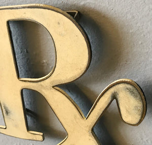 "Rx Pharmacy Symbol - Metal Wall Art Home Decor - Handmade in the USA - Choose 8"", 12"" or 24"" wide, Choose your Patina Color! FREE SHIPPING"