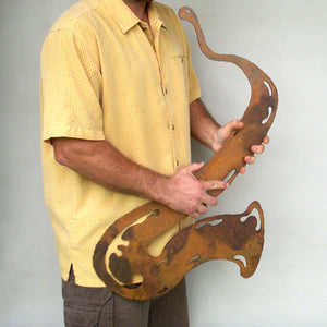 "Saxophone - Metal Wall Art Home Decor - Handmade in the USA - Choose 12"", 17"" or 23"" Tall, Choose your Patina Color - Free Ship"