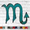 Scorpio zodiac symbol metal wall art home decor cutout handmade by Functional Sculpture llc