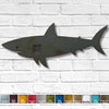 Shark fish shaped metal wall art home decor cutout handmade by Functional Sculpture llc