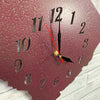 "South Carolina Metal Wall Art Clock - Italic Numbers - Home Decor - Handmade in the USA - Choose 17"" or 23"" wide, Choose your Patina Color! FREE SHIPPING"