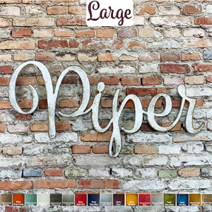 Custom Name or Word - Spumante Font - Large Size - Metal Wall Art Home Decor - Choose your Patina Color - FREE SHIPPING