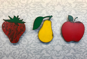 "Strawberry - Metal Wall Art Home Decor - Handmade in the USA - Choose 8"", 12"" or 17"" Tall"