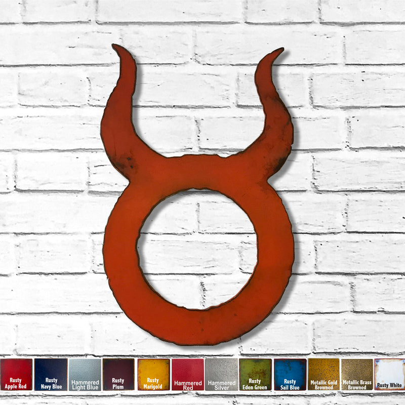 Taurus zodiac symbol metal wall art home decor cutout handmade by Functional Sculpture llc