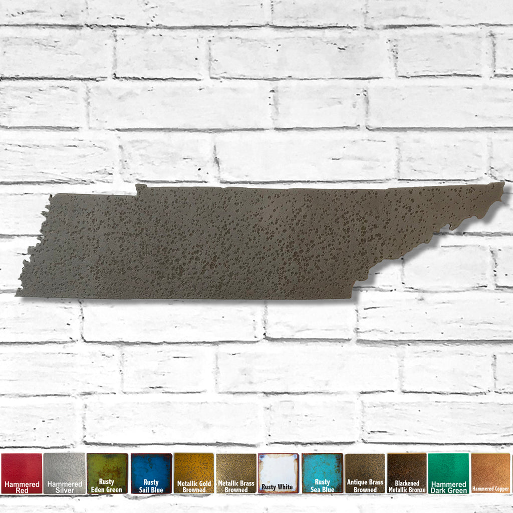 "Tennessee - Metal Wall Art Home Decor - Handmade in the USA - Choose 12"", 17"" or 24"" Wide - Choose your Patina Color! Choose any state - FREE SHIP"