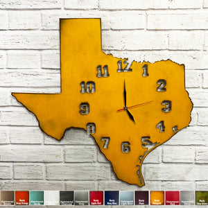 "Indiana Metal Wall Art Clock - Italic Numbers - Home Decor - Handmade in the USA - Choose 17"" or 23"" tall, Choose your Patina Color! FREE SHIPPING"