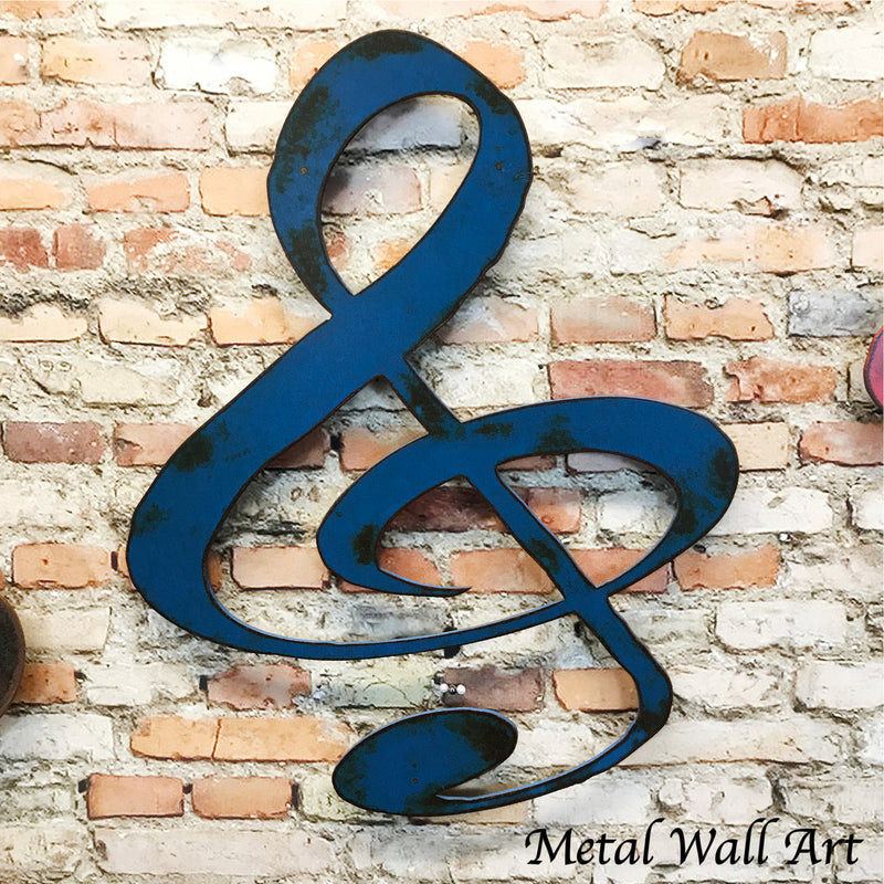 Treble Clef symbol metal wall art home decor cutout handmade by Functional Sculpture llc