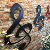"Treble Clef - Metal Wall Art Home Decor - Handmade in the USA - Choose 11"", 17"" or 24"" Tall - Choose your Patina Color - Free Ship"