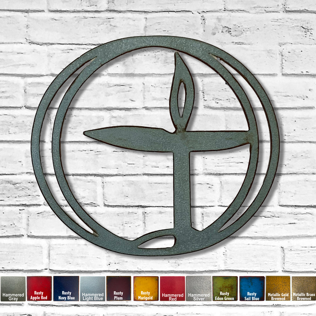 Unitarian Chalice symbol metal wall art home decor cutout handmade by Functional Sculpture llc