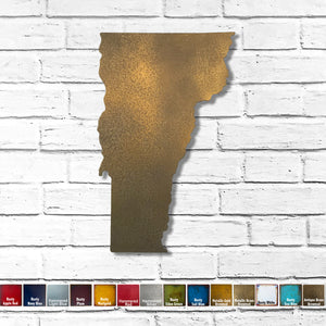 "Vermont - Metal Wall Art Home Decor - Handmade in the USA - Choose 12"", 17"" or 23"" Tall - Choose your Patina Color! Choose any State - Free Ship"