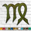 Virgo symbol shaped metal wall art home decor cutout handmade by Functional Sculpture llc