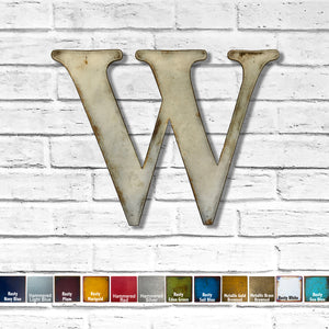 "Letter B - Metal Wall Art Home Decor - Made in the USA - Choose 10"", 12"" or 16"" Tall - Choose your Patina Color! Choose any letter FREE SHIPPING"