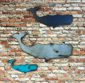 "Sperm Whale - Metal Wall Art Home Decor - Handmade in the USA - Choose 11"", 17"" or 23"" Wide - Choose your Patina Color! FREE SHIPPING"