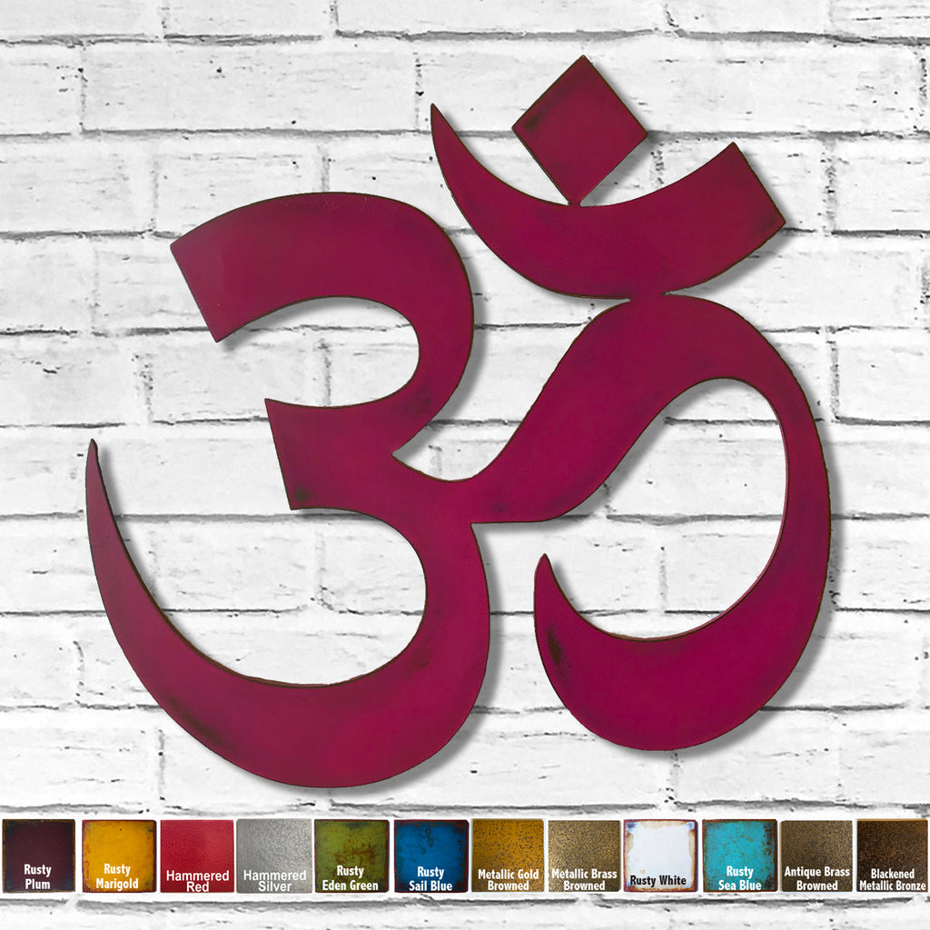 Namaste yoga symbol metal wall art home decor cutout handmade by Functional Sculpture llc