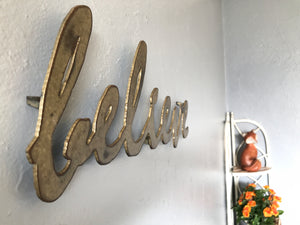 "believe - Metal Wall Art Home Decor - Handmade in the USA - Choose 16"", 24"" or 30"" Wide - Choose your Patina Color! FREE SHIPPING"