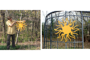 "Sun - Metal Wall Art Home Decor - Handmade in the USA - Choose 32"", 36"" or 41"", Choose your Patina Color! FREE SHIPPING"