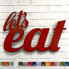 let's eat words metal wall art home decor cutout handmade by Functional Sculpture llc