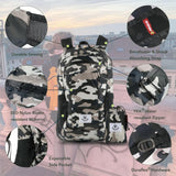 Load image into Gallery viewer, Camouflage Brown 4Monster Colorful Lightweight Travel Backpack