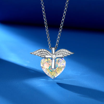 Wings & Cross Necklace