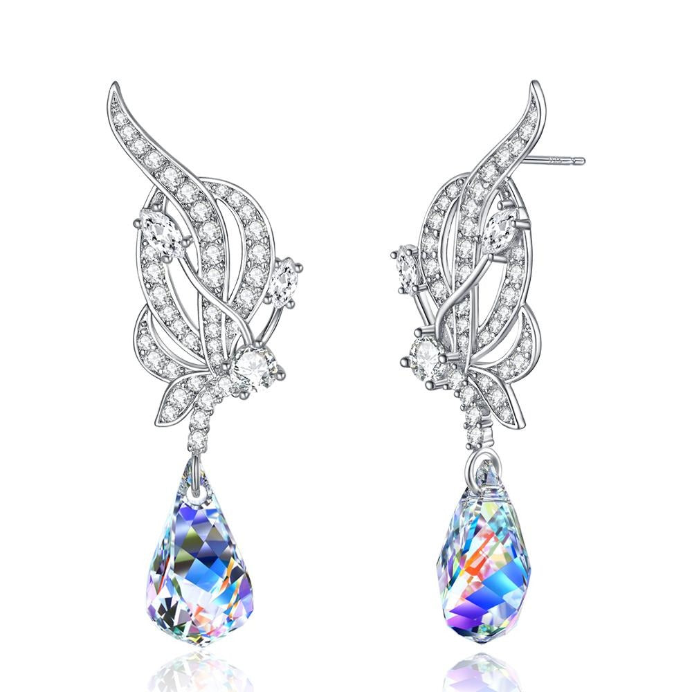 Helix Crystal Drop Earrings