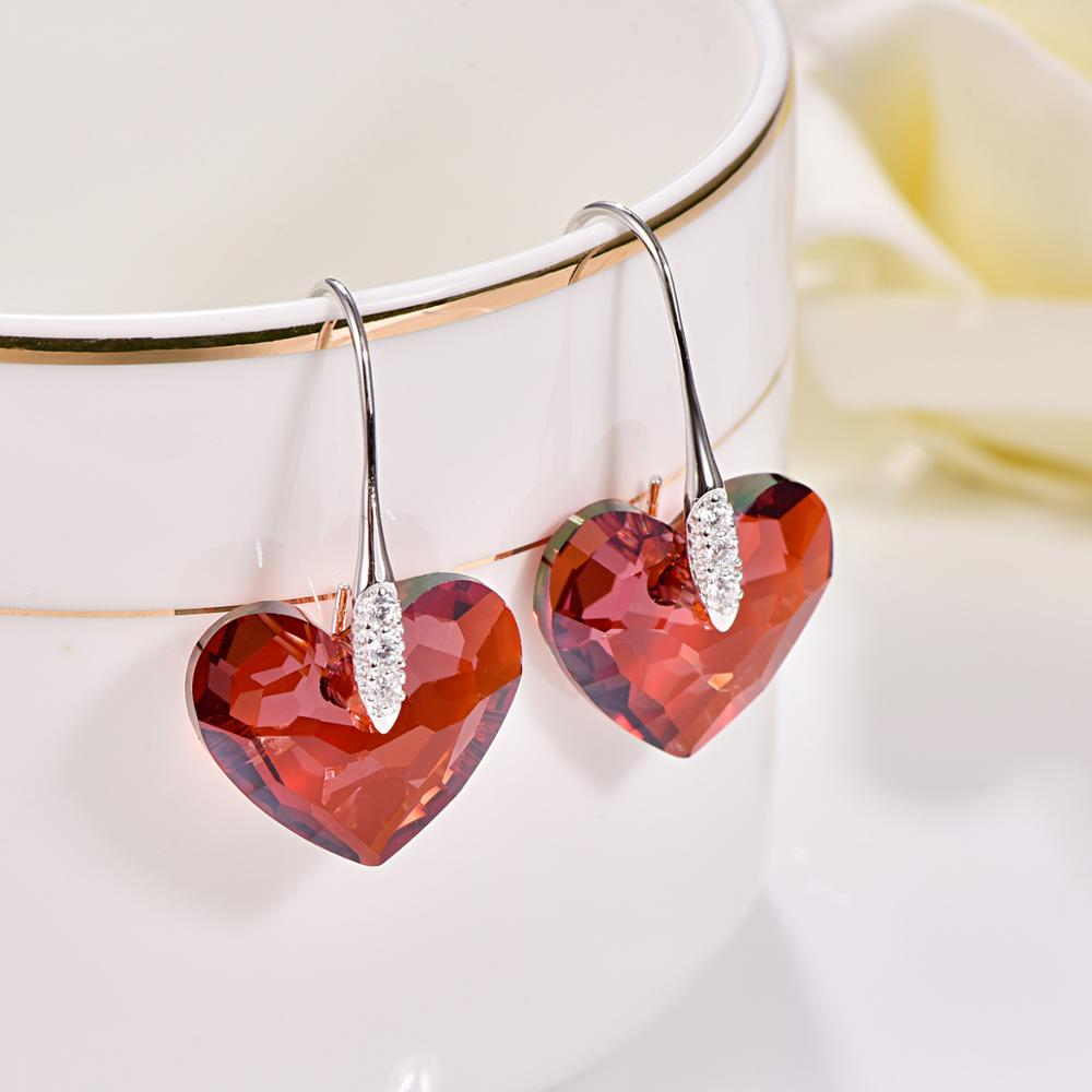 Endless Love Heart Drop Earrings