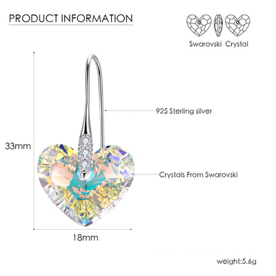 Endless Love Heart Earrings