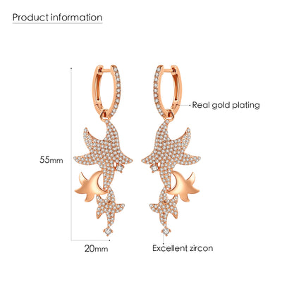 Fashionable Starfish Earrings