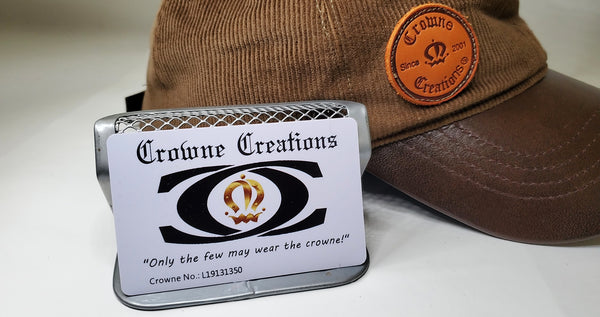 P15 Royal Rustic Corduroy Snapback with Leather Wrapped Visor- #13 of 50 - Crowne Creations