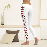 Sexy Leggings Women Digital Print Baseball Pants Slim