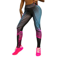 Women Push Up Elastic Slim Mesh Breathable Sport Pants Workout Leggings