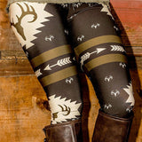 Fashion Women Christmas Leggings Deer Printed