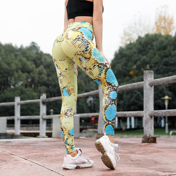 2019 Serpentine Printed Leggings Women Sexy