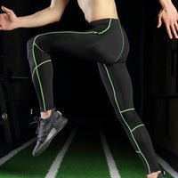 Men Compression Pants Elastic Breathable Anti-sweat Quick Drying Sports Leggings