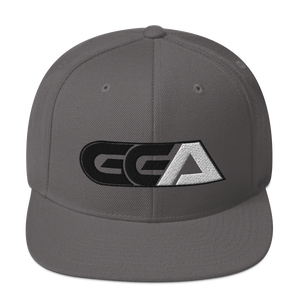 GGA Black and White Snapback Hat