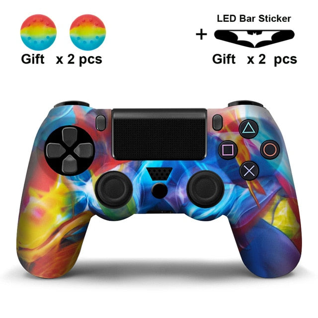 Painting scolors PS4 Silicone Cover Skin With Grips And Free LED Light Bar