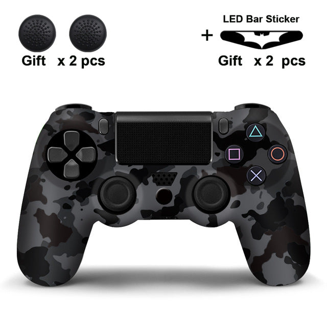 Camo Spotted Grey PS4 Silicone Cover Skin With Grips And Free LED Light Bar