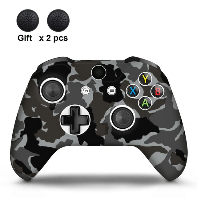 Camo Grey  Xbox One S Silicone Cover Skin With Grips