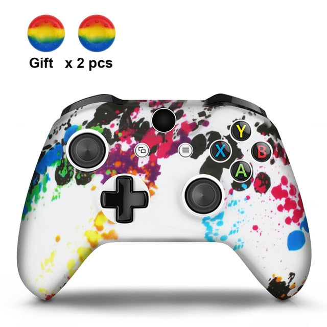 Rainbow  Xbox One S Silicone Cover Skin With Grips