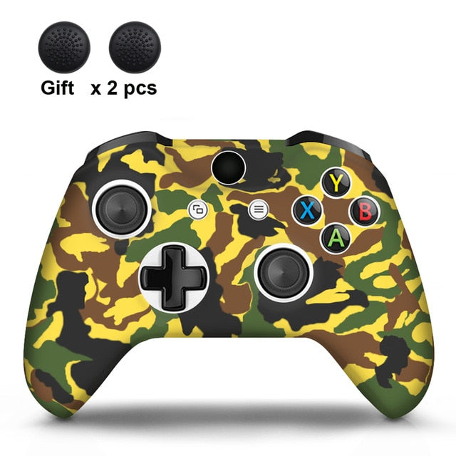 Camo Yellow  Xbox One S Silicone Cover Skin With Grips