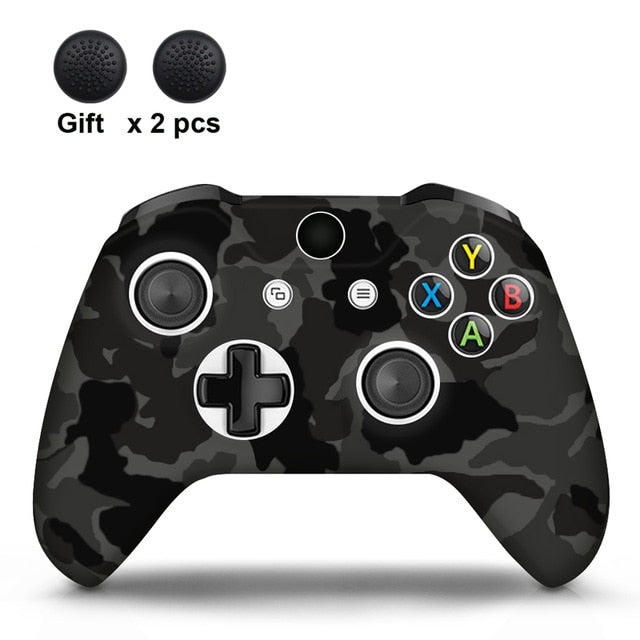 Camo Black Xbox One S Silicone Cover Skin With Grips